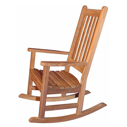 Teak Single Rocker, Honey Brown