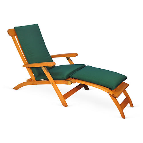 Devon Steamer Chair, Forest Green