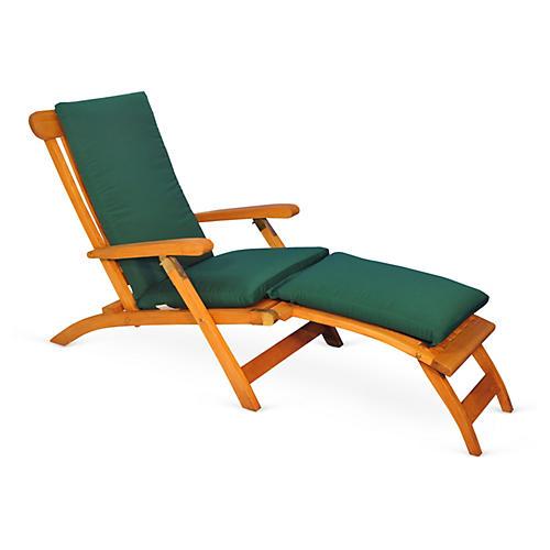 Devon Steamer Chair, Forest Green