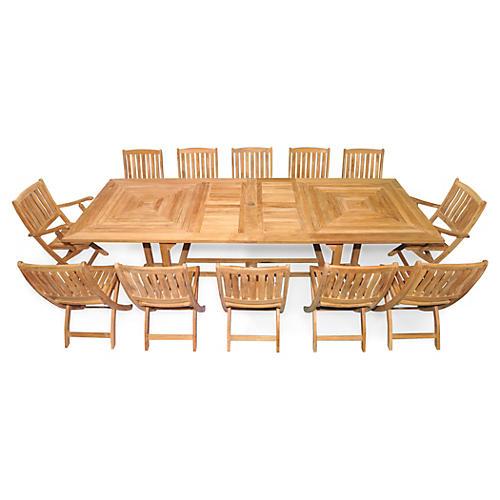 Nantucket Extension Dining Set, Teak