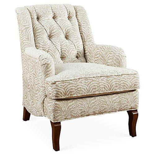 Avon Tufted Chair, Sand