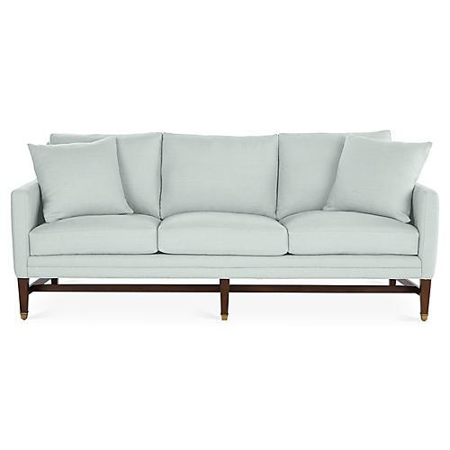 Arden Sofa, Seafoam Linen