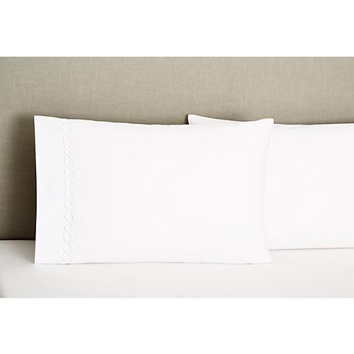 S/2 Venezia Standard Pillowcases, White