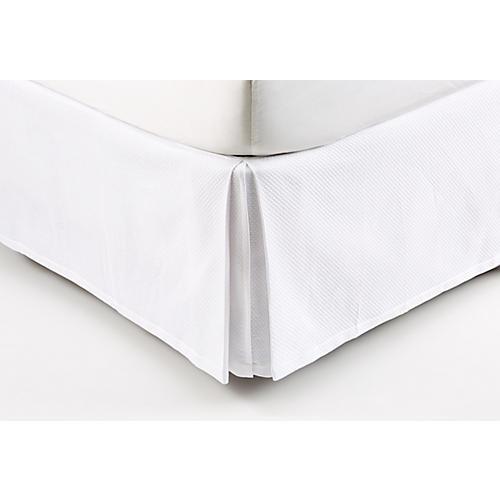 Tenaro Bed Skirt, White