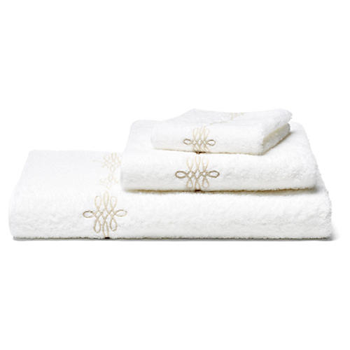 Bernini 3-Pc Towel Set, Champagne