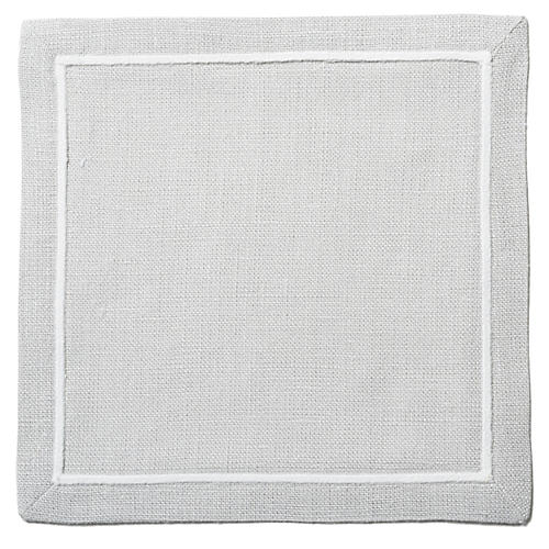 S/4 Satin-Stitch Cocktail Napkins