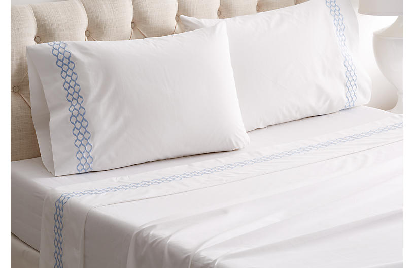 Cleo Sheet Set, Blue