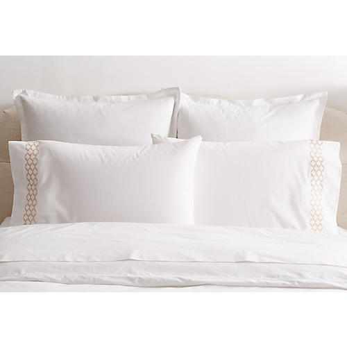 S/2 Cleo Standard Pillowcases, Champagne