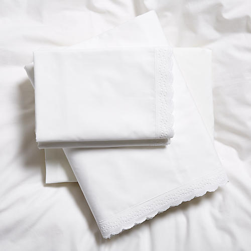 Marilla Sheet Set, White