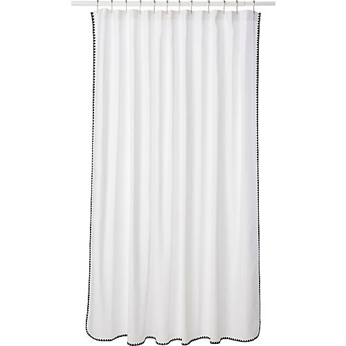 Seychelles Shower Curtain, Navy
