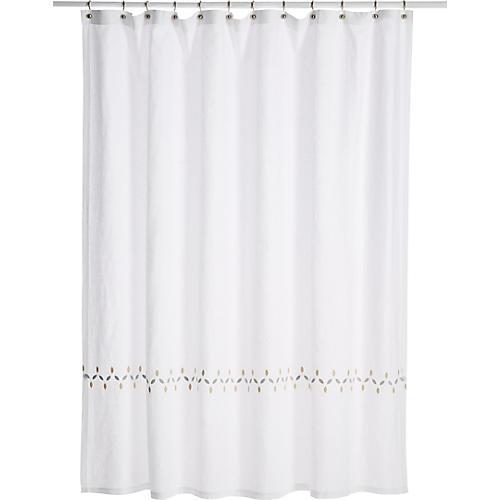 Petala Shower Curtain, Silver/Champagne