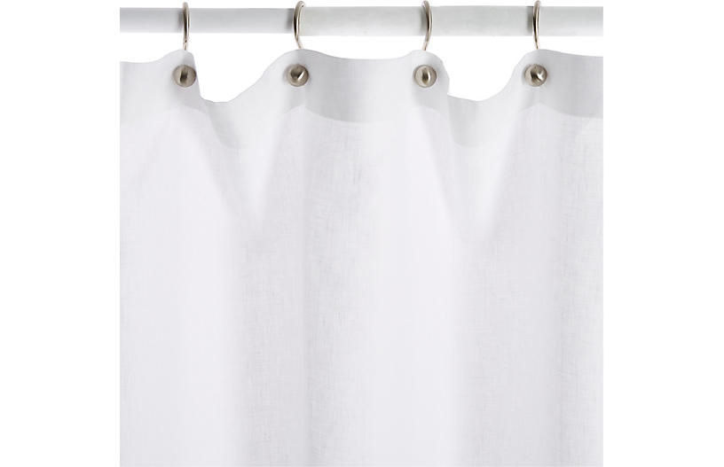 Petala Shower Curtain Silver Champagne Shower Curtains