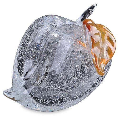 Art Glass Peach Figurines