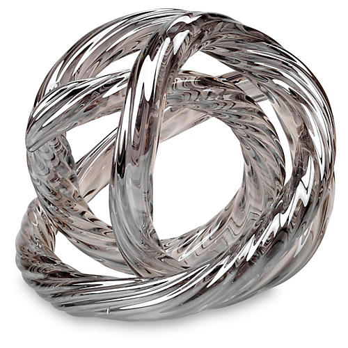 S/3 Infinity Glass Figurines, Silver