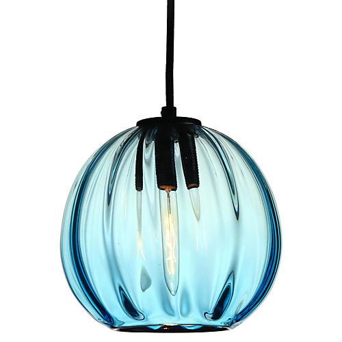 "8"" Light Bulb Pendant, Aqua"