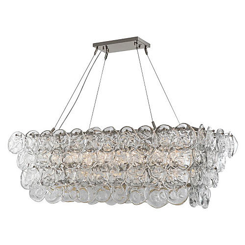 14-Light Prelude Chandelier, Nickel