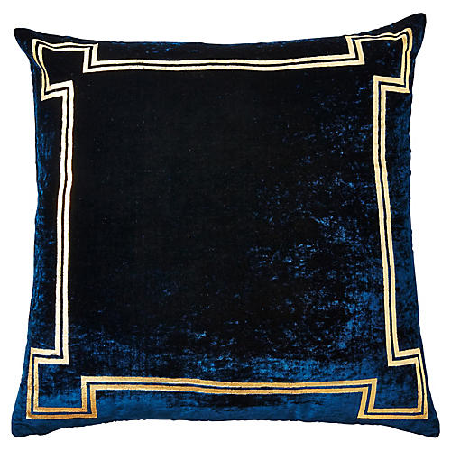 Aria 24x24 Pillow, Blue