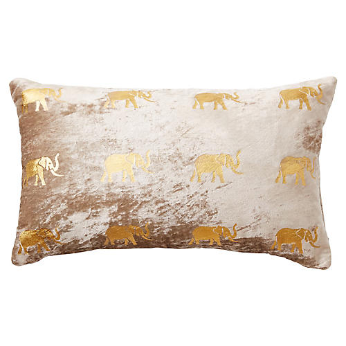 Meru 12x20 Pillow, Blush