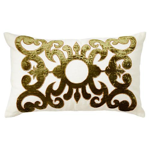 Somerset 12x20 Linen Pillow, Green