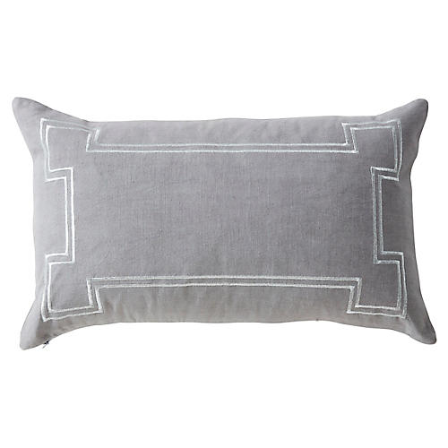 Aria 14x22 Linen Pillow, Gray