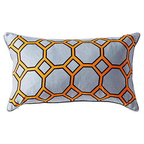 Onslow 14x24 Silk Pillow, Gray