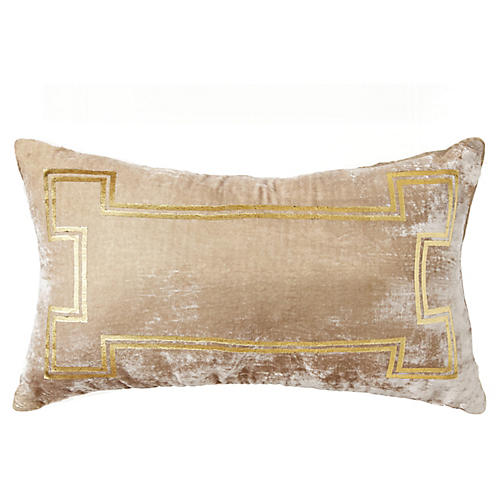 Aria 14x22 Lumbar Pillow, Taupe