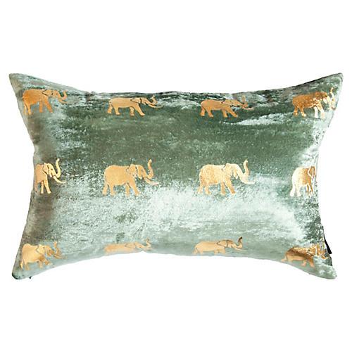 Meru 14x22 Lumbar Pillow, Seafoam