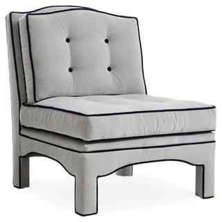 Julien Tufted Slipper Chair, Gray Velvet   One Kings Lane   Brands | One  Kings Lane