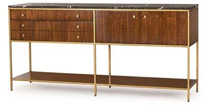 Copeland Sideboard, Walnut/Brass