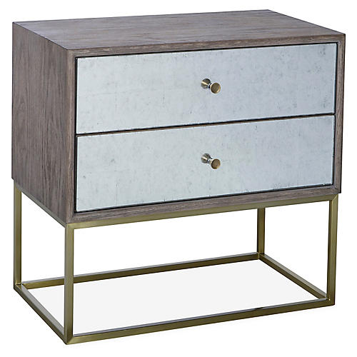Hampton Nightstand, Gray