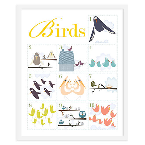 Counting Birds 1-10, Mini, ModernPOP