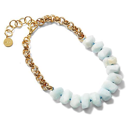 Short Aquamarine Strand Necklace