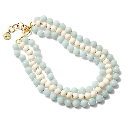Jade & Bone Multistrand Necklace