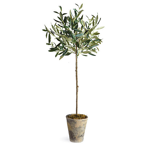 "30"" Olive Tree In Planter, Faux"