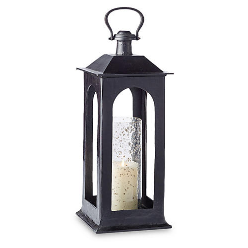 "25"" Atherton Tall Porch Lantern, Black"