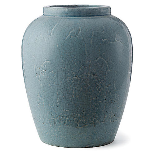 "16"" Amaya Urn, Light Blue"