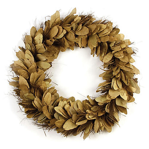 "24"" Pear Tree Preserved Wreath, Brown"