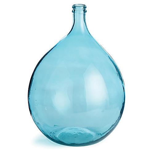 """21"""" Bistro Vase, Aqua"""