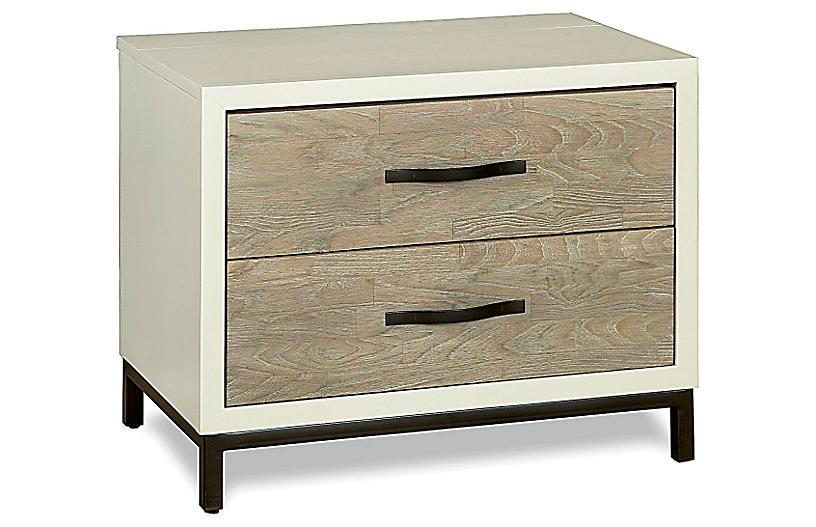 Spencer 2-Drawer Nightstand, Driftwood