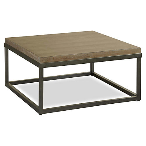 Brittney Coffee Table, Asphalt/Natural