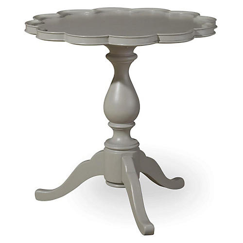 Pie Crust Table, Gray
