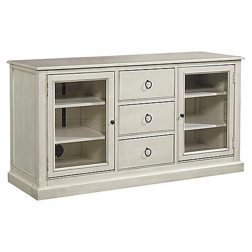 Sadie Entertainment Console, White