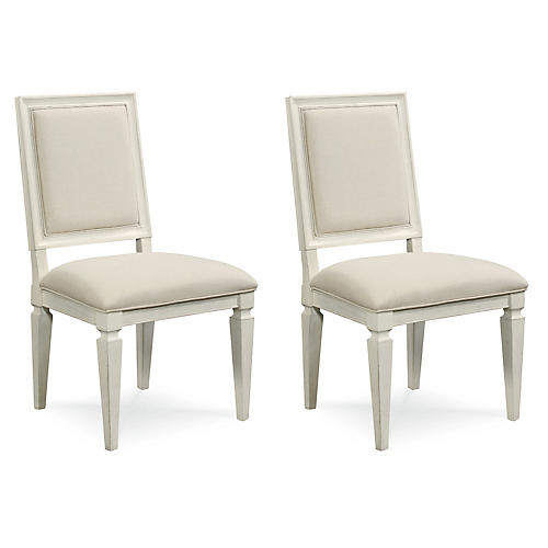 Kellen Woven Side Chairs, Pairs