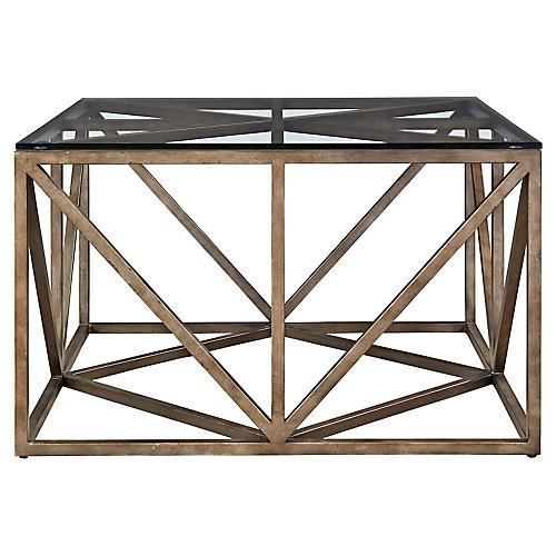 Madison Square Coffee Table, Bronze