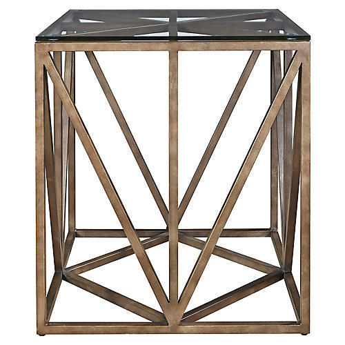Grant Side Table, Antiqued Bronze