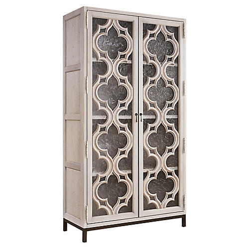 "Elan 82"" Display Cabinet, Whitewash"