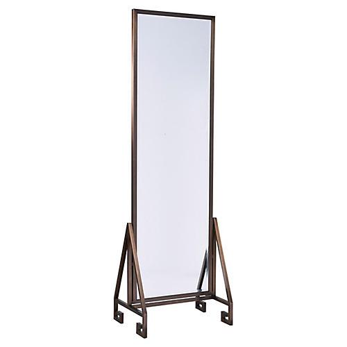 Modern Floor Mirror, Bronze