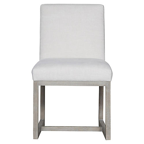 Carter Side Chair, Ivory/White Crypton