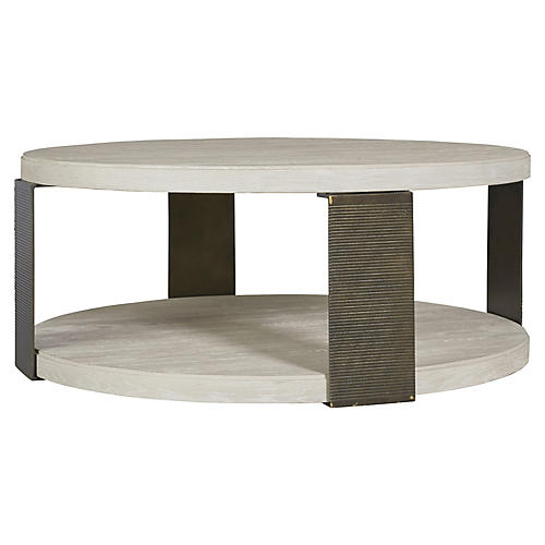 Wilder Round Coffee Table, Whitewash