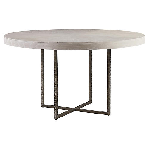Robards Round Dining Table, Ivory